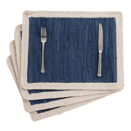 THRO Quinlynn Vintage Placemats - Set of 4, Reversible