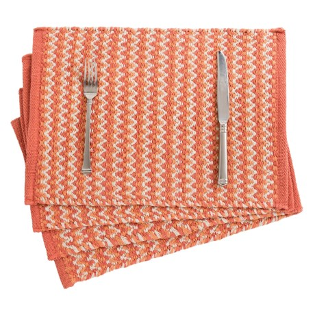 THRO Henry Woven Placemats - Set of 4, Reversible