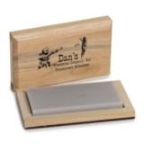 "Dan's Whetstone Translucent Arkansas Whetstone - Wooden Storage Box, 4x2x1/2"""