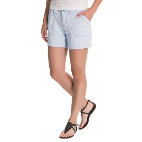 JAG Izzy Contrast Stitch Twill Shorts (For Women)
