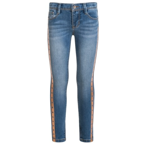 Squeeze Rose Gold Star Foil Jeans - Skinny Leg (For Little Girls)
