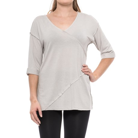 iRelax Irelax Side-Ruched Lounge Shirt - 3/4 Sleeve (For Women)