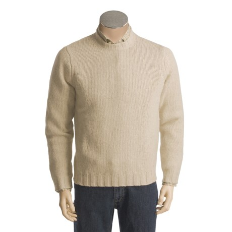 Cullen Harris Chunky Crew Sweater - Lambswool (For Men)