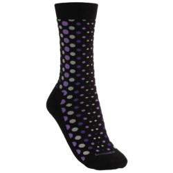 Goodhew Lifestyle Polka Dot Socks -  Merino Wool, Crew (For Women)