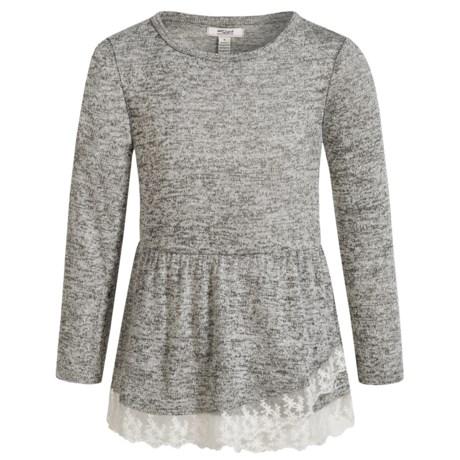 Silver Jeans Asymmetrical Flutter Hem Shirt - Long Sleeve (For Little Girls)