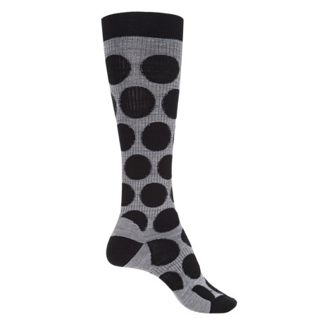 SmartWool Graduated Compression Dot Socks - Merino Wool, Over the Calf (For Women)