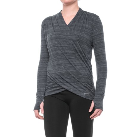 Spalding Studio Dance Wrap Shirt - Long Sleeve (For Women)