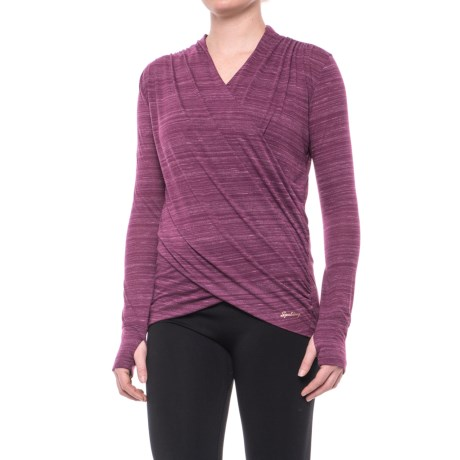 Spalding Studio Dance Wrap Shirt - Long Sleeve (For Women)