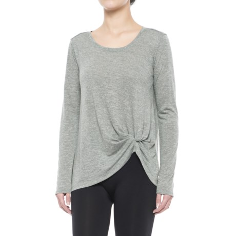 Spalding Knotted Studio T-Shirt - Long Sleeve (For Women)