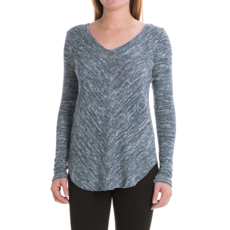 Harmony and Balance Marled Yoga Shirt - Long Sleeve (For Women)