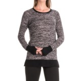 Harmony and Balance Hacci Knit Brushed Marled Sweater (For Women)