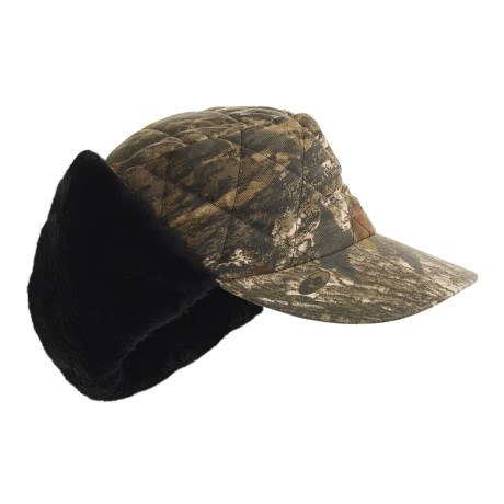 Jacob Ash Hot Shot Quilted Canvas Camo Hat - Insulated, Ear Warmer (For Men)