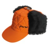 Jacob Ash Hot Shot Quilted Hunting Cap - Ear Flap, Blaze Orange