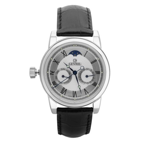 GV2 by Gevril Moon Phase Watch - Multifunction, Lacquered Jewelry Case