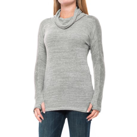 Harmony and Balance Hacci Shirt - Cowl Neck, Long Sleeve (For Women)