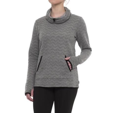 RBX Chevron Quilted Cowl Neck Sweatshirt (For Women)