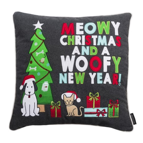 """Max Studio Dog and Cat Holiday Pillow - 20x20"""""""