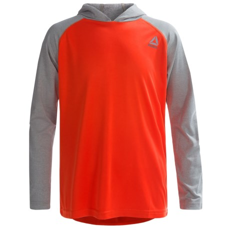 Reebok Solid-and-Marled Hoodie Shirt - Long Sleeve (For Big Boys)