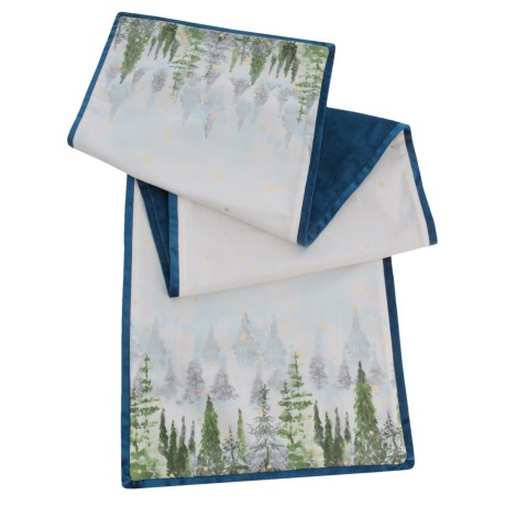 Nicole Miller Twilight Trees Canvas Table Runner - 16x72""