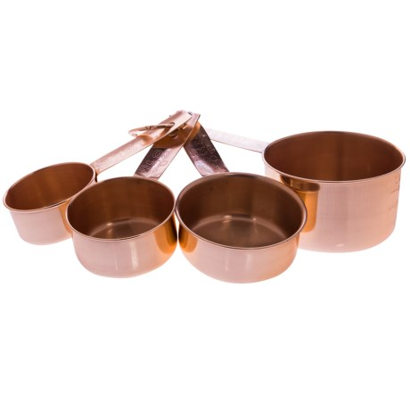 Home Essentials Copper Measuring Cups - Set of 4