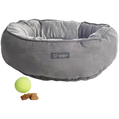 Nandog Reversible Round Dog Bed - 22""