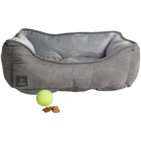 Nandog Lounger Dog Bed - Reversible, 21x25""