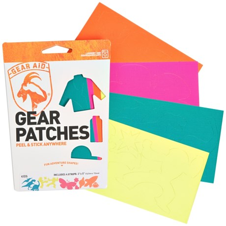 """Gear Aid Tenacious Tape Kids Gear Patches - 4-Pack, 3x5"""""""
