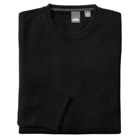 Cullen Solid Crew Neck Sweater - Cashmere (For Men)