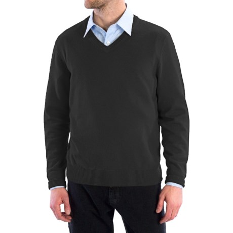 Cullen Solid V-Neck Sweater - Cashmere (For Men)