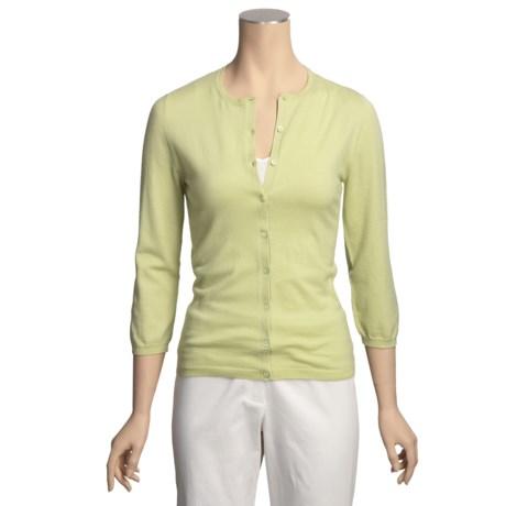 TSE Cashmere-Silk Cardigan Sweater - 3/4 Sleeve (For Women)