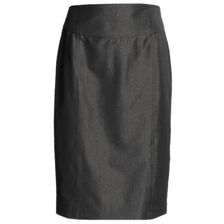 Peace of Cloth Panticular Tina Pencil Skirt - Gloss Twill (For Women)