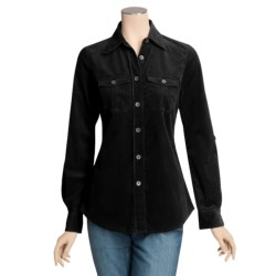 Peace of Cloth Panticular Natlee Shirt - Feather Cord, Stretch Cotton (For Women)