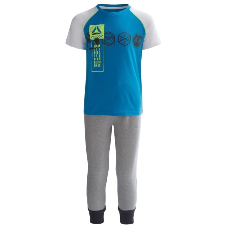 Reebok Lead with Speed Shirt and Joggers Set - 2-Piece, Short Sleeve (For Toddler Boys)