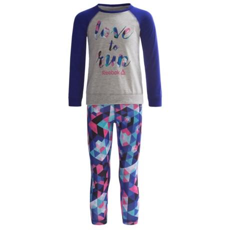 Reebok Love to Run Shirt and Leggings Set - 2-Piece, Long Sleeve (For Toddler Girls)
