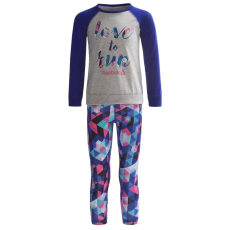 Reebok Love to Run Shirt and Leggings Set - 2-Piece, Long Sleeve (For Little Girls)