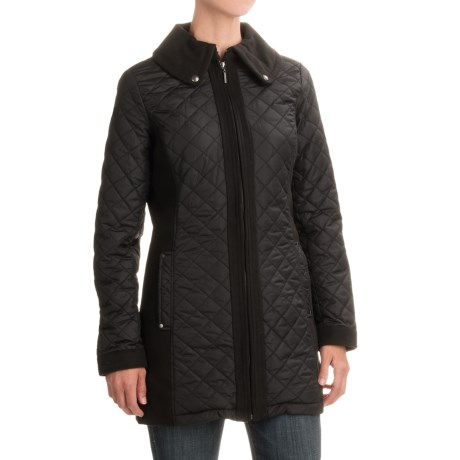 Weatherproof Mixed Media Quilted Walker Jacket (For Women)