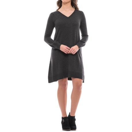 Premise V-Neck Sweater Dress - Long Sleeve (For Women)