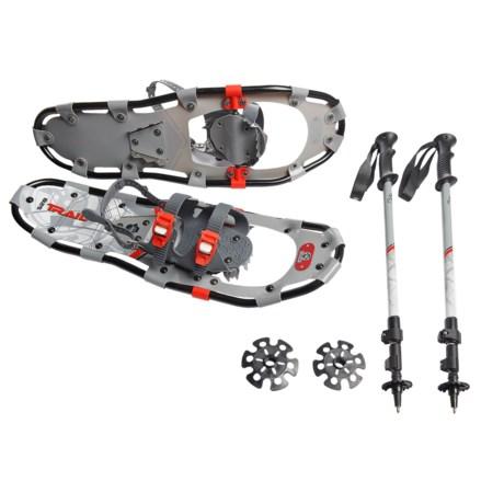 "Yukon Charlie's Yukon Charlie's 825 Trail Snowshoes Kit with Poles - 25"""