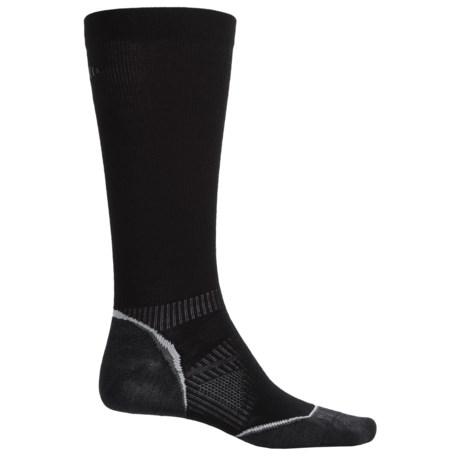 SmartWool PhD V2 Run Graduated Compression Ultralight Socks - Merino Wool, Over the Calf (For Men and Women)