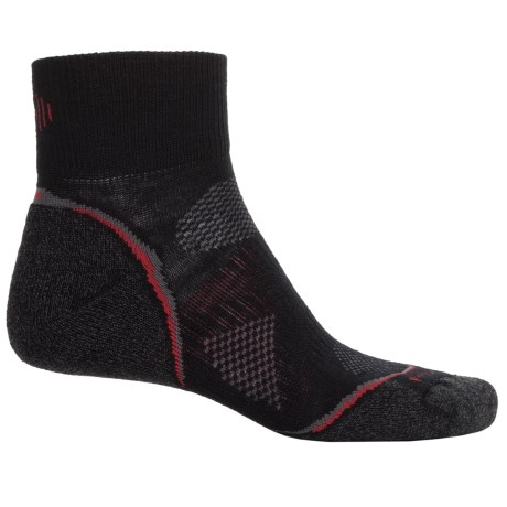 SmartWool PhD Cycle Light Socks - Merino Wool, Quarter Crew (For Men and Women)
