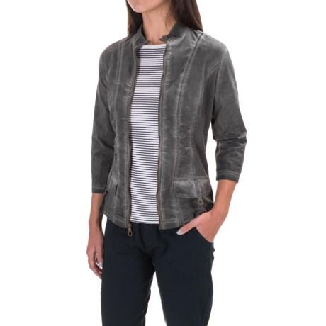 XCVI Eugenia Stretch-Poplin Jacket - 3/4 Sleeve (For Women)