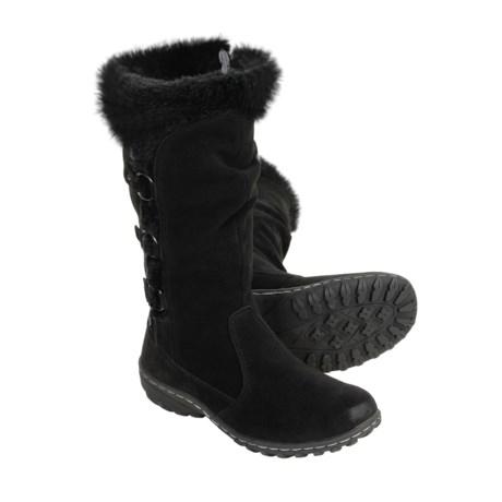 Khombu Denver Suede Tall Boots - Waterproof, Faux Fur (For Women)
