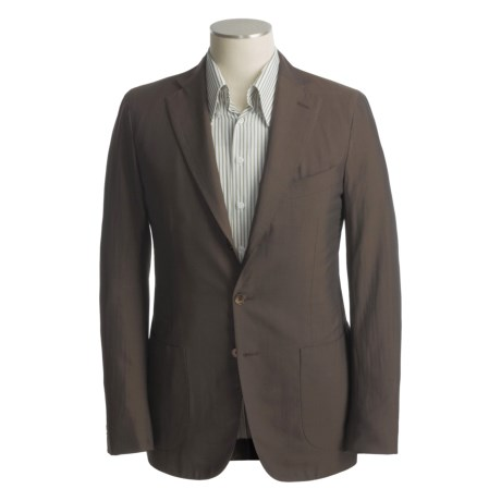 Isaia Solid Sport Coat - Silk-Cotton (For Men)