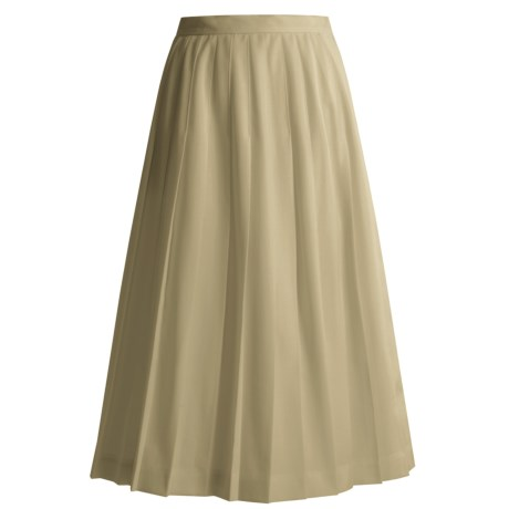 Hawksley & Wight Worsted Wool Pleated Skirt (for Women)