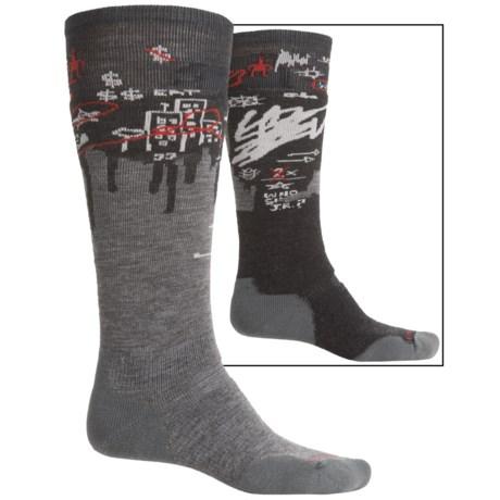 SmartWool PhD Slopestyle Craigieburn Ski Socks - Merino Wool, Over the Calf (For Men and Women)