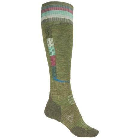 SmartWool PhD Ski Light Elite Pattern Socks - Merino Wool, Over the Calf (For Women)