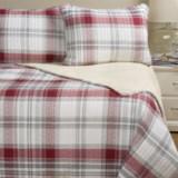 Max Studio Ayr Plaid and Sherpa Comforter Set - Twin