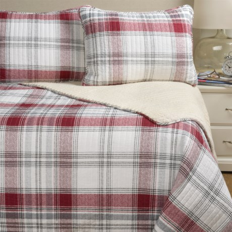Max Studio Ayr Plaid and Sherpa Comforter Set - Twin