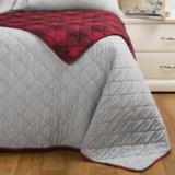 Max Studio Buffalo Check Reversible Quilt - Full-Queen