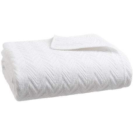 Bella Lux Monte Blanc Cotton Solid Quilt - Full-Queen